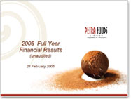 2005 Full Year Financial Results (Unaudited)