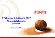 3rd Quarter & 9-Month 2017 Financial Results (unaudited)