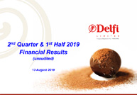 2nd Quarter & 1st Half 2019 Financial Results (unaudited)