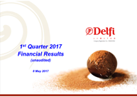 First Quarter 2017 Financial Results (unaudited)